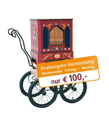 Rent a street organ for only 100 €
